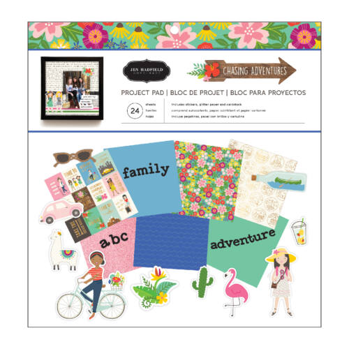 Pebbles - Chasing Adventures 12x12 Project Pad (24 Sheets)