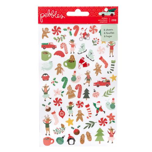 Pebbles - Merry Little Christmas Mini Sticker Book (6 Sheets)