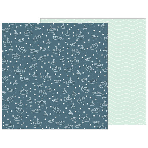 Pebbles - Nigh Night 12x12 Patterned Paper - Sail Away