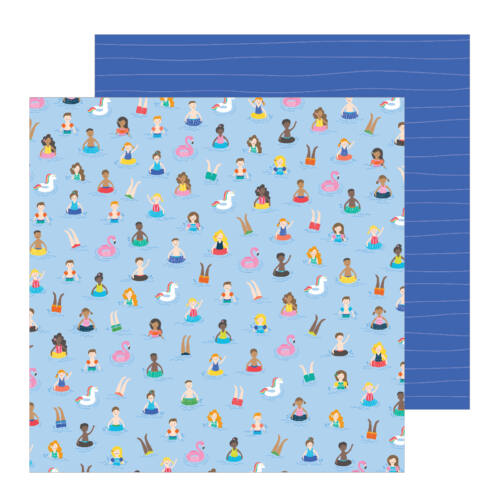 Pebbles - Oh Summertime 12x12 Patterned Paper -  Taking A Dip