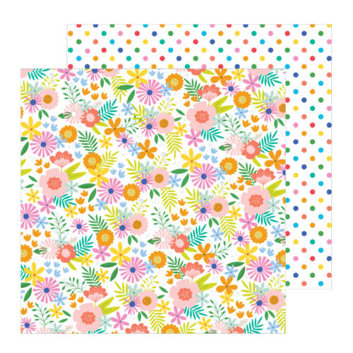 Pebbles - Oh Summertime 12x12 Patterned Paper -  Summer Bouquet