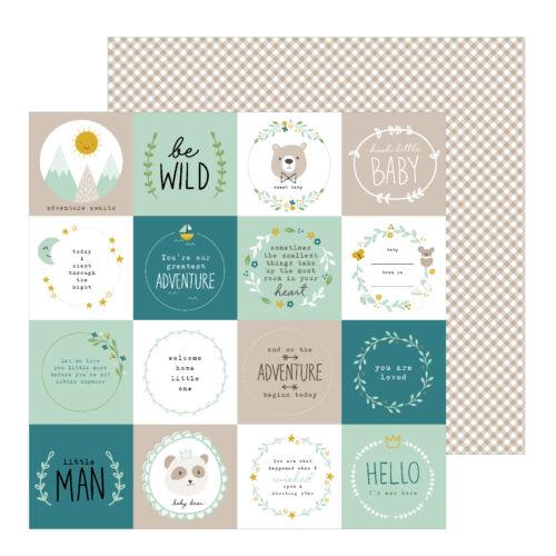 Pebbles - Peek-A-Boo You 12x12 Pattern Paper - Be Wild