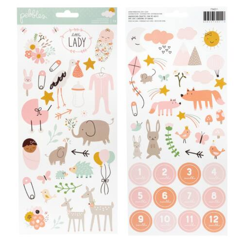 Pebbles - Peek-A-Boo You 6x12 Sticker Sheet - Girl