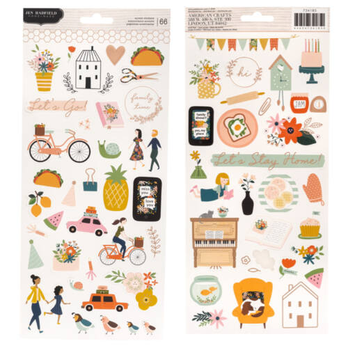 Pebbles - This is family 6x12 Stickers (66 Piece)