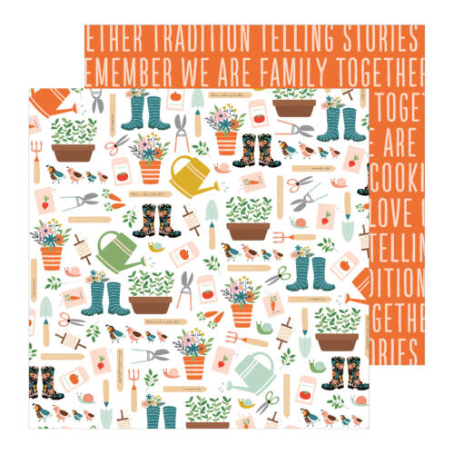 Pebbles - This is family 12x12 Patterned Paper - Growing Together