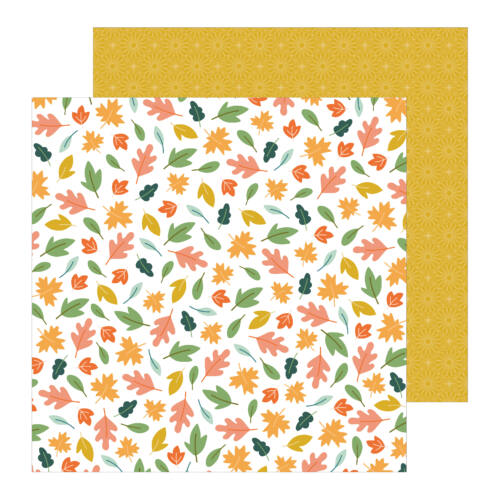 Pebbles - This is family 12x12 Patterned Paper - Scattered Leaves