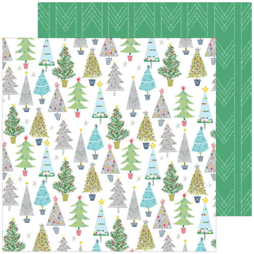 Pinkfresh Studio - Home for the Holidays 12x12 Paper - Merry and Bright