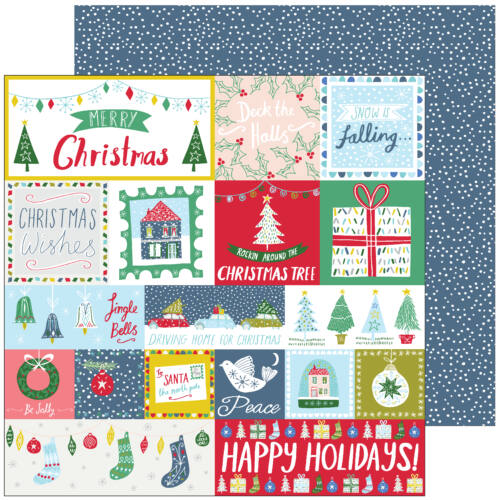 Pinkfresh Studio - Home for the Holidays 12x12 Paper - Happy Holidays