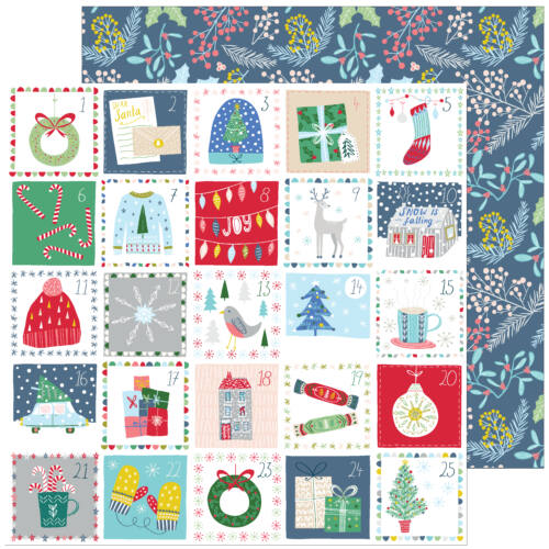 Pinkfresh Studio - Home for the Holidays 12x12 Paper - Advent Love