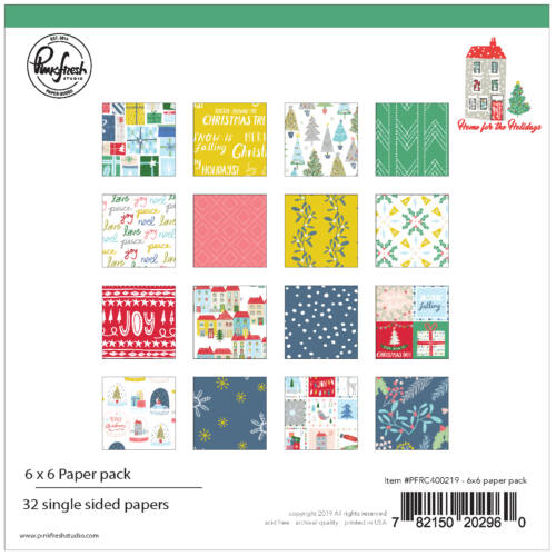Pinkfresh Studio - Home for the Holidays 6x6 Paper Pad