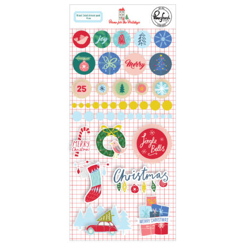 Pinkfresh Studio - Home for the Holidays Mixed Embellishments (43 Pieces)