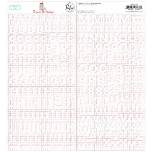 Pinkfresh Studio - Home for the Holidays Puffy Alpha Stickers (222 Pieces)