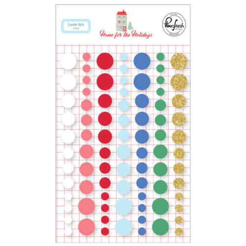 Pinkfresh Studio - Home for the Holidays Enamel Dots (84 Pieces)