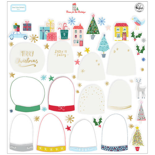 Pinkfresh Studio - Home for the Holidays Snow Globe Elements (52 Pieces)