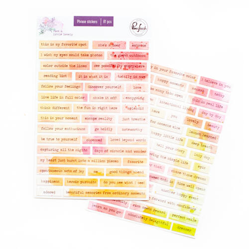 Pinkfresh Studio - Just a Little Lovely Phrase stickers