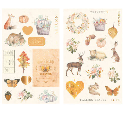 Prima Marketing - Autumn Sunset Chipboard Stickers (34 Pieces)