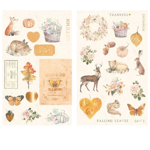 Prima Marketing - Autumn Sunset Chipboard Stickers (34 Pieces)