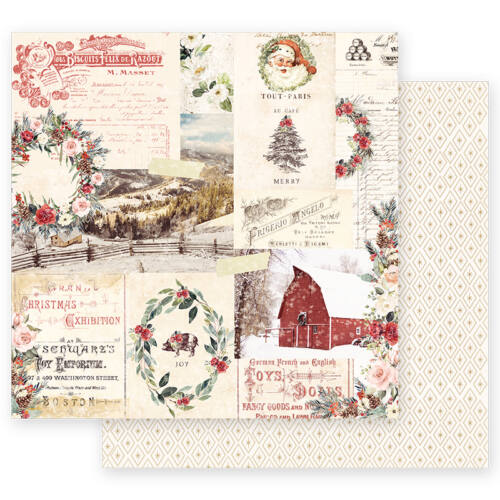 Prima Marketing - Christmas in the Country 12x12 Paper - Christmas Joy