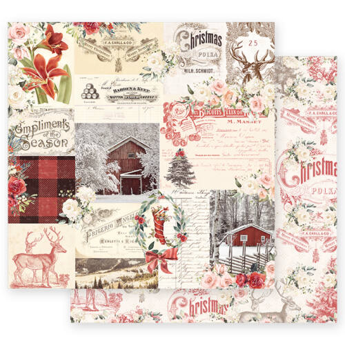Prima Marketing - Christmas in the Country 12x12 Paper - Compliments Of The Season