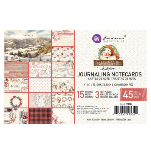 Prima Marketing - Christmas in the Country 4x6 Journaling Card