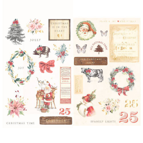Prima Marketing - Christmas in the Country Chipboard Stickers (29 Pieces)