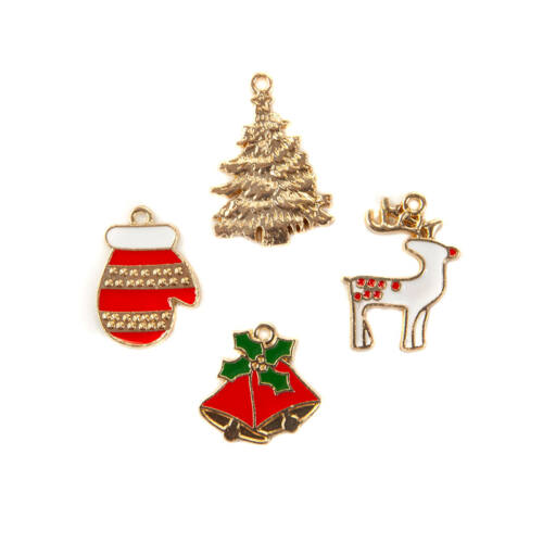 Prima Marketing - Christmas in the Country Charms (4 Pieces)
