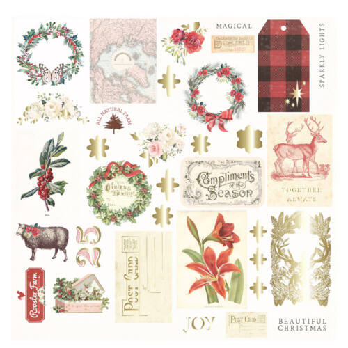 Prima Marketing - Christmas in the Country Ephemera (34 Pieces)