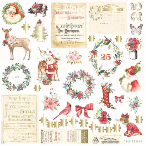 Prima Marketing - Christmas in the Country Ephemera (42 Pieces)