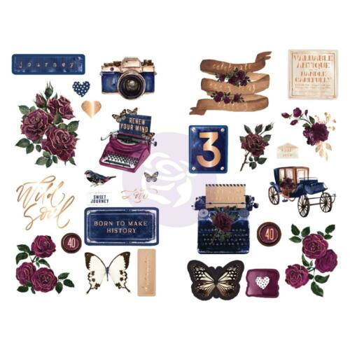 Prima Marketing - Darcelle Chipboard Stickers (28 Piece)
