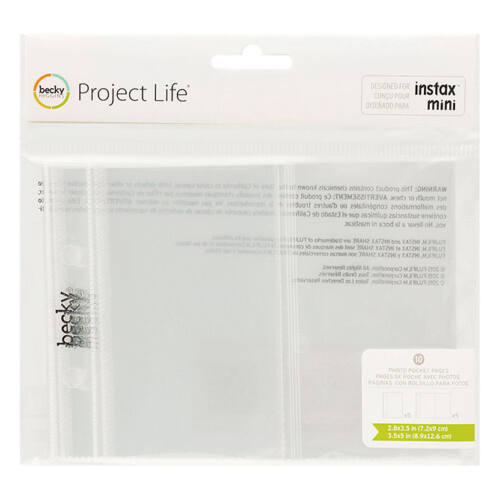 Becky Higgins - Project Life - Instax - Page Protectors