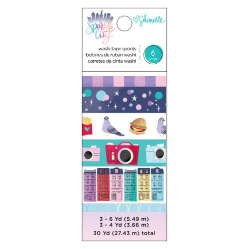 American Crafts - Shimelle - Sparkle City Washi Tape Set (6 Piece)
