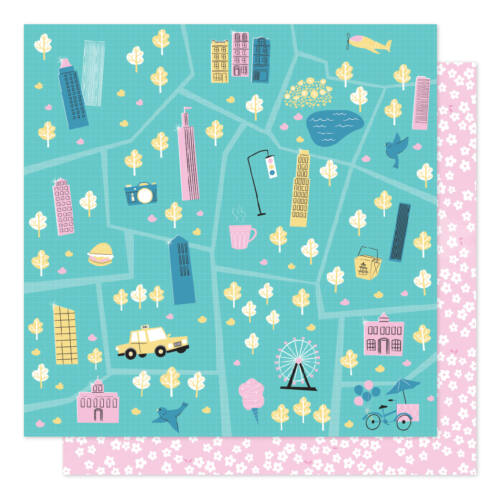 American Crafts - Shimelle - Sparkle City 12x12 Patterned Paper - Tour Guide