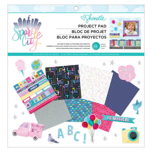 American Crafts - Shimelle - Sparkle City 12x12 Project Pad (24 Sheets)