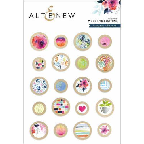 Altenew - Live Your Dream Wood Epoxy Buttons
