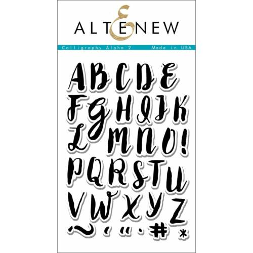 Altenew Calligraphy Alpha Uppercase Stamp Set