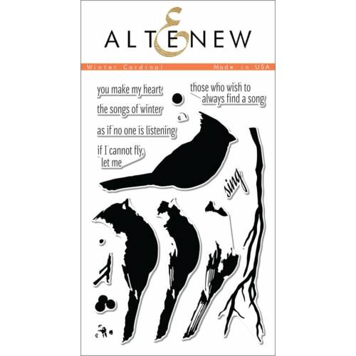 Altenew Winter Cardinal Stamp Set