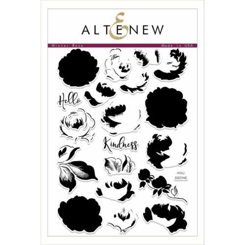 Altenew Winter Rose Stamp Set