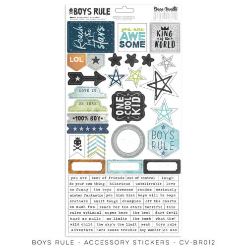 Cocoa Vanilla Studio - Boys Rule Accessory Stickers