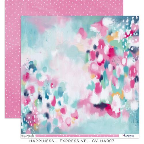 Cocoa Vanilla Studio - Happiness 12x12 Paper - Expressive