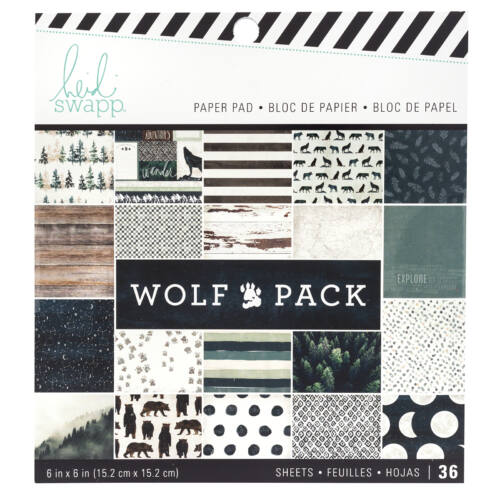 Heidi Swapp - Wolf Pack 6x6 Paper Pad (36 Sheets)