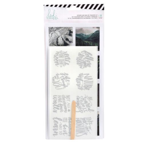 Heidi Swapp - Wolf Pack Sticker and Rub-On Transfer Kit (33 Piece)