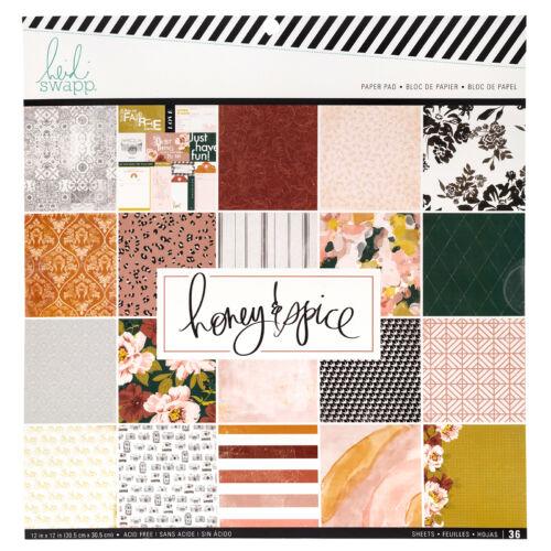Heidi Swapp - Honey & Spice 12x12 Paper Pad (36 Sheets)