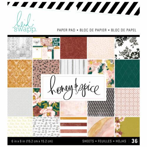 Heidi Swapp - Honey & Spice 6x6 Paper Pad (36 Sheets)