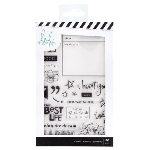 Heidi Swapp - Honey & Spice Clear Acrylic Stamps (22 Piece)