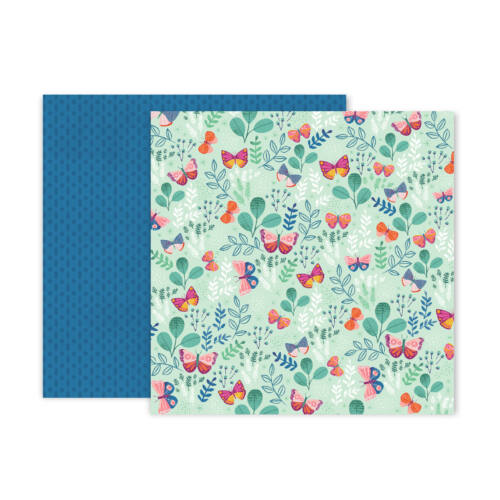 Pink Paislee - Paige Evans - Truly Grateful 12x12 Patterned Paper - 5