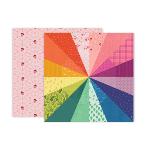 Pink Paislee - Paige Evans - Truly Grateful 12x12 Patterned Paper - 8