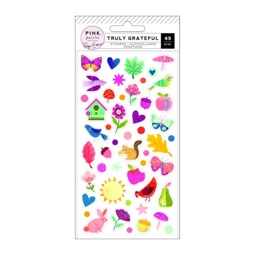 Pink Paislee - Paige Evans - Truly Grateful Puffy Stickers (49 Piece)