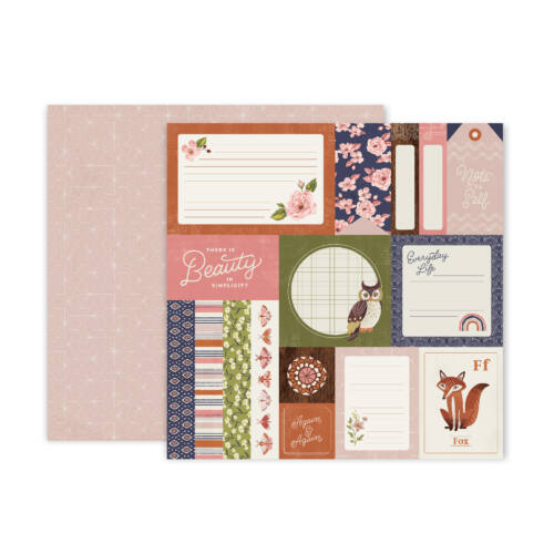 Pink Paislee - Again & Again 12x12 Patterned Paper - 1