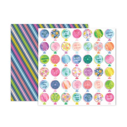 Pink Paislee - Paige Evans - Horizon 12x12 Patterned Paper - 11