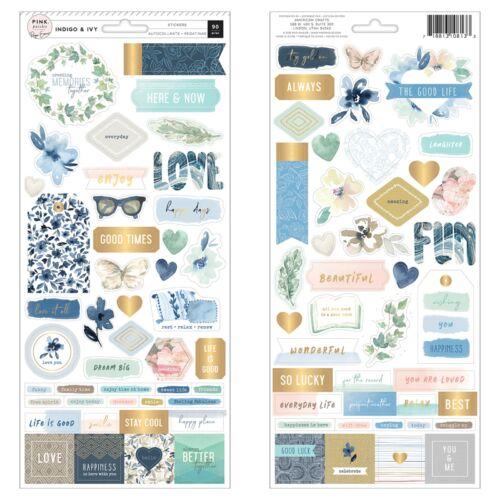 Pink Paislee - Indigo and Ivy 6x12 Cardstock Sticker (90 Piece)